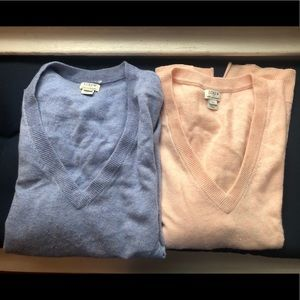 Lot of 2 JCrew cashmere sweaters